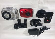 HP AC100 Action Cam 1080P 2.4in LCD Camera with WaterproofCase  Red