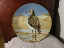 Sandpiper Plate by Eric Tenney Gold Edge The 12 Waterbirds Collection Limited Ed