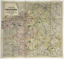 Littlebury's Map of Worcestershire Rare Vintage Original Antique 1873 Atlas Map