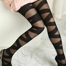 Goth Rocker Yoga Tights Stockings Women - Uk Seller