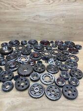 Industrial Machine Age Steel Lot 60 Gears/Cogs Steampunk Art Parts Lamp Base