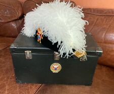 Knights of Columbus Chapeau - Size 7 1/4 - White feathers with travel case