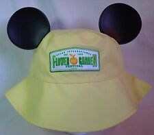 Disney Epcot 2015 Flower & Garden Show Yellow Mickey Ear Hat Cap