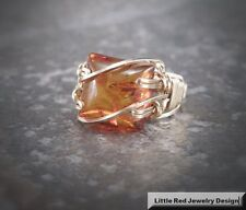 14 k Gold Filled Wire Wrapped Baltic Amber Ring