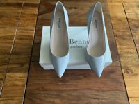 LK Bennett leather patent grey UK 6.5 39.5 boxed 99p no reserve!!