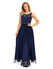 Women Formal Prom Long Maxi Dress Evening Party Cocktail Satin Lace Bridesmaids