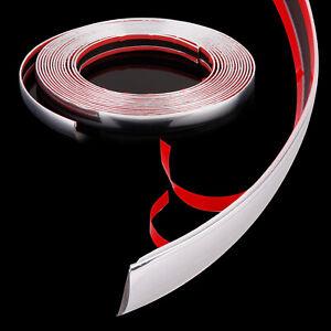 Chrom Zierleisten 8M X 21mm selbstklebend Chromleiste Auto Flexibel Band