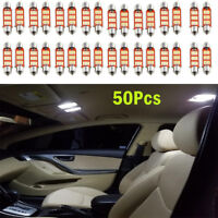 50x 12SMD 39mm 4014 C5W LED Festoon Dome Car Interior Reading Lamp New