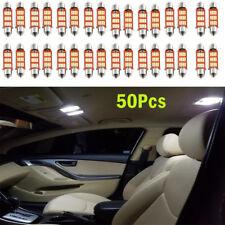 50x 12SMD 39mm 4014 C5W LED Festoon Dome Car Interior Reading Lamp New