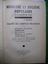 MEDECINE ET HYGIENE POPULAIRE: E.KIENZLER  MEDECINES NATURELLES
