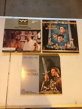 Lot Of 3 Classic Laserdiscs Knights Of The Round Table, The Guns Of Navarone,etc