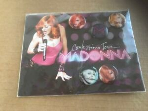 Madonna Confessions Tour Buttons Set of 5 Still in package Brand New