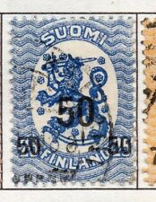 Finland 1919  Early Issue Fine Used 50p. Surcharged 151650