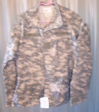 US Army Combat Uniform ACU Digital Camouflage Camo Shirt Coat Jacket Lg Short