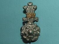 RARE WW1/2 YORKSHIRE HUSSARS OFFICERS SILVER GILT CAP BADGE -100% ORIGINAL!!