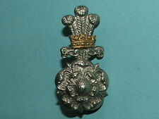 RARE WW1/2 YORKSHIRE HUSSARS OFFICERS SILVER GILT CAP BADGE -100% ORIGINAL!!