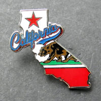 CALIFORNIA US STATE MAP LAPEL HAT PIN BADGE 1.2 inches