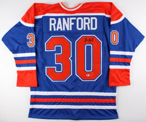 Bill Ranford Signed Oilers Jersey (Beckett) Playing career 1985–2000