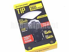 NiteCore TIP 2017 Cree XP-G2 360lm 74m USB Pocket Keychain Flashlight Black