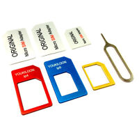 1X3 in 1 Nano/Micro to Micro/Standard SIM Card Adapter Tray For iPhone 5 5G 4S 4