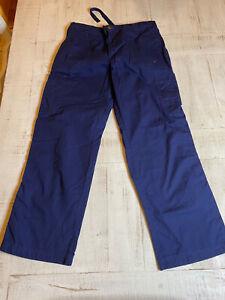 Carhartt Mens Cotton Scrub Pants Navy Blue Medium