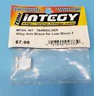 New Integy Silver Alloy Arm Brace Losi Micro T T8458Silver