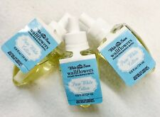 3 Bath Body Works Pure White Cotton Wallflower Home Oil Refills Bulb