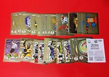 RUSSIA 2018 Panini -Full Set Completo 50 SCUDETTI-BADGES Figurine-Stickers GOLD