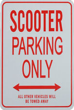SCOOTER PARKING ONLY - Miniature Fun Parking Signs