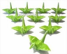 6x Porcelain Crane Chopsticks Rest Green A11885-Gr S-2158x6