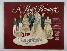 British Royal Romance Prince Charles Diana Paper Dolls Book