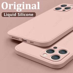 For iPhone 11 12 Pro Max XR XS 8 7 6 SE 2 Liquid Silicone Rubber Soft Case Cover
