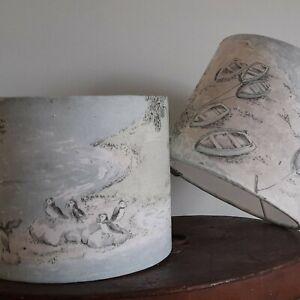 Sanderson coastal view Lampshades handmade 20 cm drum lamp