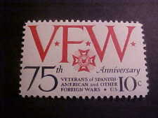Scott# 1525 Veterans of Foreign Wars Unused OGNH
