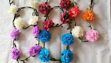 Joblot 24pcs Mixed colour Carnation Flower Elasticated Headband wholesale lot 5