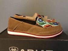 Ariat Cruiser Sunburn Brown Turquoise, Oil Cloth Slip On Shoes Womens 9