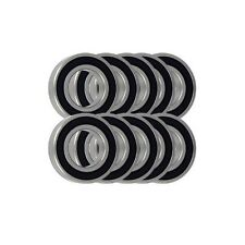 Pack of 10 6301 2RS 63012RS Rubber Sealed WM1/MSB Brand Bearing 12x37x12mm