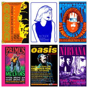 Band & Music Gig Posters Vol 1 Vintage Grunge Rock Blues Pub Bar Decor Wall