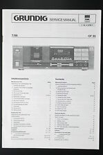 GRUNDIG CF 35 ORIGINALE MANUALE DI SERVIZIO/Manuale Servizio/SCHEMA ELETTRICO