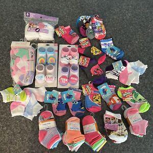 Baby Girl Socks Lot Newborn-3 Years NWT!! 71 Pairs