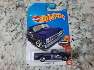 2016 Hot Wheels '67 Chevy C10 Purple 158/365 HW Hot Trucks 5/10 Hoosier VHTF