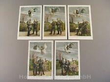 114242, Patriotische Postkarten, Serie ENGEL WACHT ÜBER ZWEI FELDGRAUE SOLDATEN