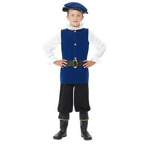 Kids Boys Shakespeare Historical Tudor Prince Fancy Dress World Book Day Costume