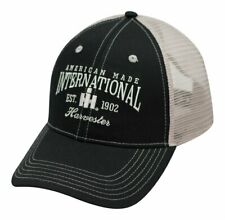 International Harvester *Black & Silver Mesh Est 1902* Logo Hat Cap New! Ih140