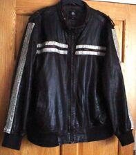 BURTON faux leather biker bomber punk Jacket. SZ 2XL