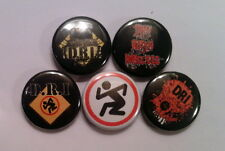 "5 x D.R.I. 1"" Pin Button Badges (dri dirty rotten imbecils crossover trash zone)"
