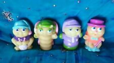 Vtg 80s Hasbro Glo Bug Glow Worm Friend Playskol Figure Set Lot 4