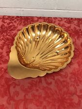 Vtg. Copper Craft Guild 3 Footed Scalloped Shell Copper Dish
