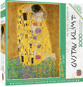 MasterPieces Masterpieces of Art The Kiss 1000 Piece Jigsaw Puzzle NEW