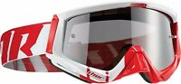 NEW THOR SNIPER BARRED RED/WHITE GOGGLE  MX ATV UTV BMX MOUNTAIN BIKE FREE SHIP